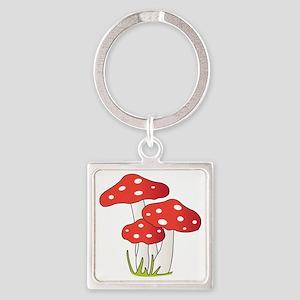 Polka Dot Mushrooms Keychains