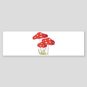 Polka Dot Mushrooms Bumper Sticker