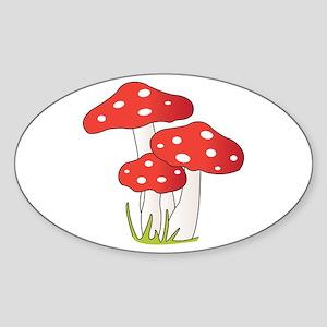 Polka Dot Mushrooms Sticker