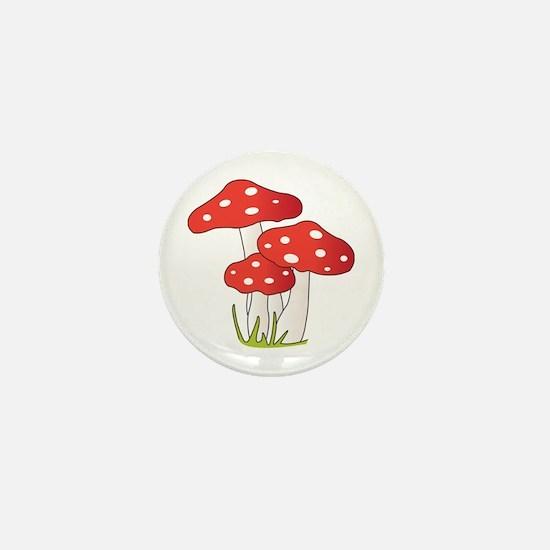 Polka Dot Mushrooms Mini Button