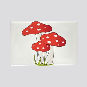 Polka Dot Mushrooms Magnets