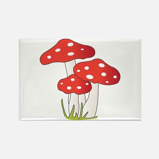 Polka Dot Mushrooms Magnets