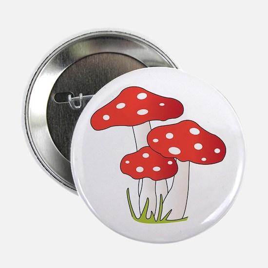 "Polka Dot Mushrooms 2.25"" Button"