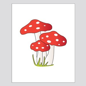 Polka Dot Mushrooms Posters