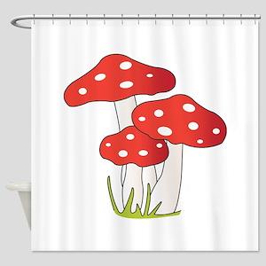 Polka Dot Mushrooms Shower Curtain