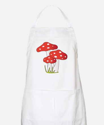 Polka Dot Mushrooms Apron