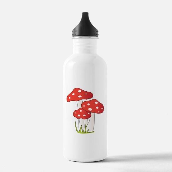 Polka Dot Mushrooms Water Bottle