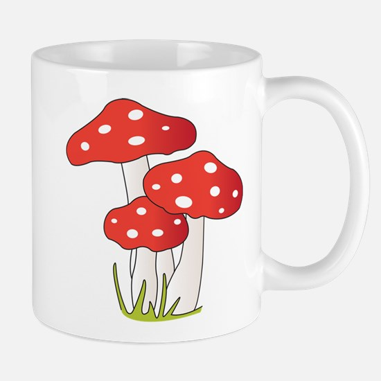 Polka Dot Mushrooms Mugs