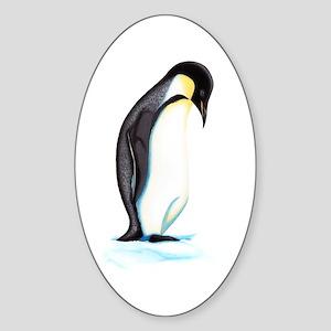Emperor Penguin Sticker (Oval)