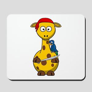 Pirate Giraffe Cartoon Mousepad