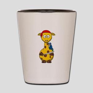 Pirate Giraffe Cartoon Shot Glass