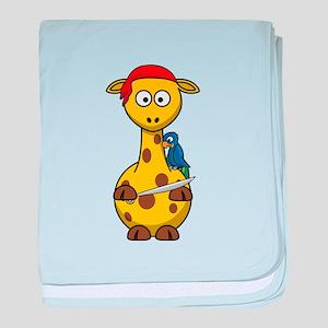 Pirate Giraffe Cartoon baby blanket