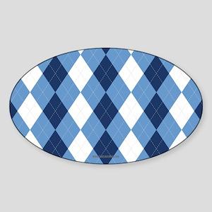 UNC Basketball Argyle Carolina Blue Sticker
