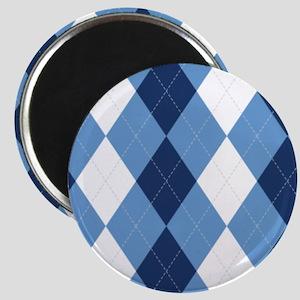 UNC Basketball Argyle Carolina Blue Magnets