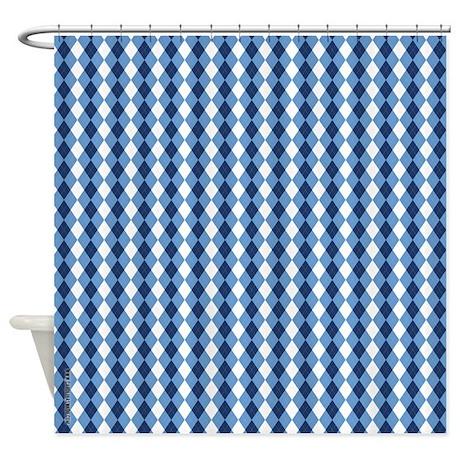 UNC Basketball Argyle Carolina Blue Shower Curtain By CarolinaSwagger