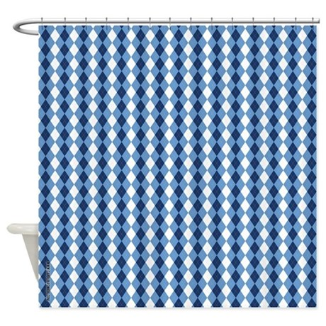 UNC Basketball Argyle Carolina Blue Shower Curtain