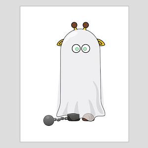 Ghost Giraffe Cartoon Poster Design