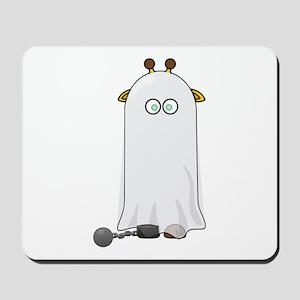 Ghost Giraffe Cartoon Mousepad