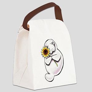 Sunny Manatee Canvas Lunch Bag