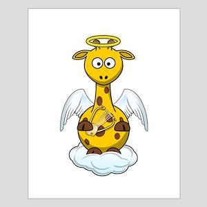 Angel Giraffe Cartoon Poster Design