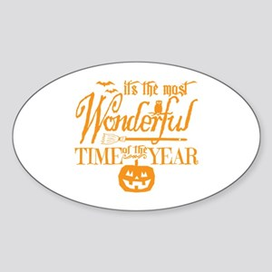 Most Wonderful (orange) Sticker (Oval)