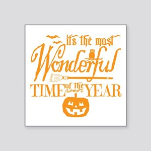 "Most Wonderful (orange) Square Sticker 3"" x 3"""