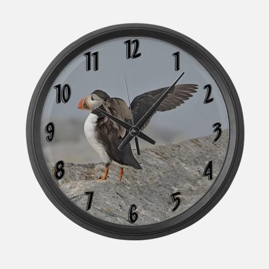 Atlantic Puffin Large Wall Clock