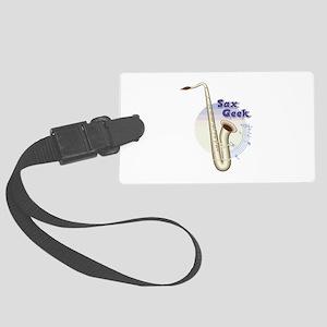 Saxophone -Band Instrument Large Luggage Tag