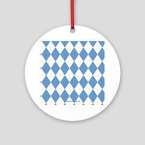 UNC Carolina Blue Argle Basketball Ornament (Round