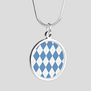 UNC Carolina Blue Argle Basketball Necklaces