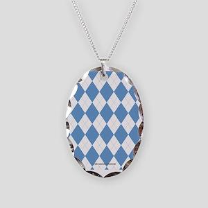 UNC Carolina Blue Argle Basketball Necklace
