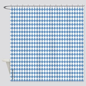 UNC Carolina Blue Argle Basketball Shower Curtain