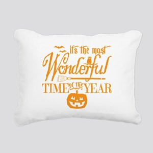 Most Wonderful (orange) Rectangular Canvas Pillow
