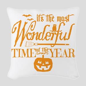 Most Wonderful (orange) Woven Throw Pillow