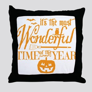 Most Wonderful (orange) Throw Pillow