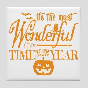 Most Wonderful (orange) Tile Coaster