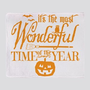 Most Wonderful (orange) Throw Blanket