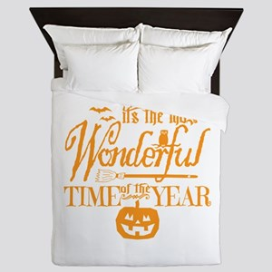 Most Wonderful (orange) Queen Duvet