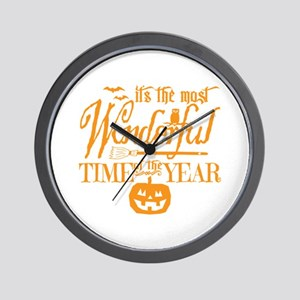 Most Wonderful (orange) Wall Clock