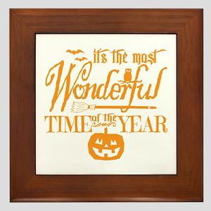 Most Wonderful (orange) Framed Tile