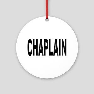 Chaplain Ornament (Round)