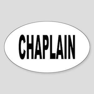 Chaplain Oval Sticker