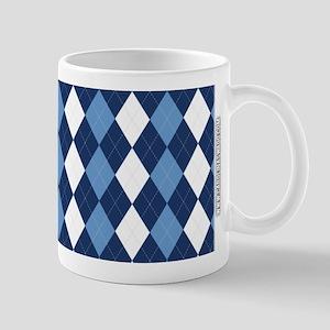 UNC Carolina Blue Basketball Argyle Mugs