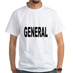 General (Front) White T-Shirt