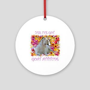 Goat Attitude! Ornament (Round)