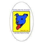 Blue Dog Oval Sticker