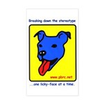 Blue Dog Rectangle Sticker