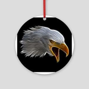 American Bald Eagle Head Ornament (Round)