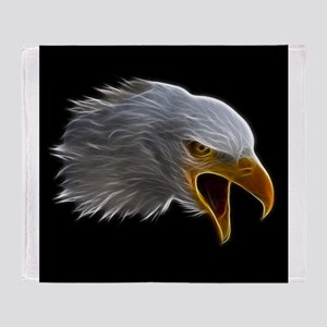 American Bald Eagle Head Throw Blanket