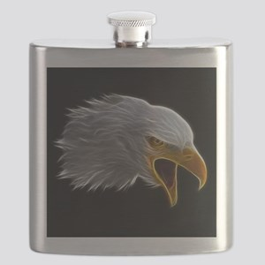 American Bald Eagle Head Flask